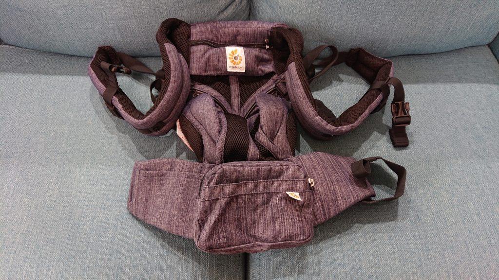 出産準備で買った物はエルゴオムニ360クールエアの抱っこ紐。